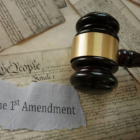 First amendment with gavel