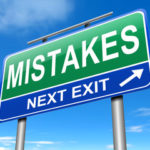 Mistakes sign