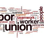 Labor union word cloud