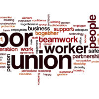 Labor union word cloud