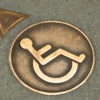 Wheelchair Crossing Street Medallion, Union Square, San Francisco