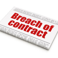 Law concept: newspaper headline Breach Of Contract